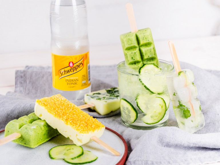 Gin & Tonic Popsicle – Cucumber